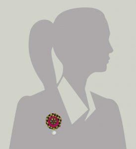 Wool Bonbon Brooch Magenta Apple Green Statement Jewelry Textile Fiber Bold Handmade USA Exuberant Wearable Art