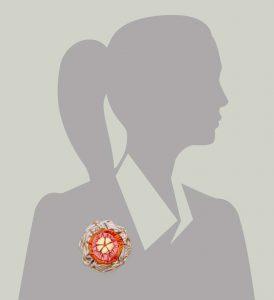 Victorian Silk Brooch Lavender Orange Pink Stripe Statement Jewelry Textile Fiber Bold Handmade USA Exuberant Wearable Art